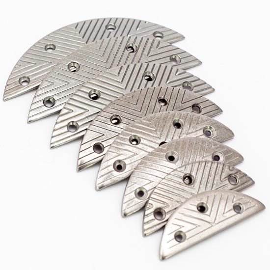 Lulu Metal Toe Plates Stamped Aulion