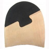 Leather Combination Toppiece Heel Blocks 31/4
