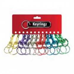 Metal Hipster Key Rings Coloured