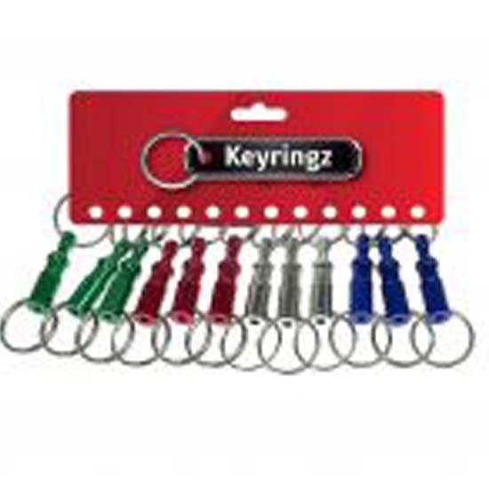 Pull Apart Key Rings Coloured