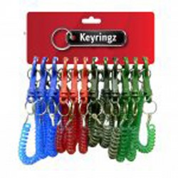 Coloured Spiral Key Rings