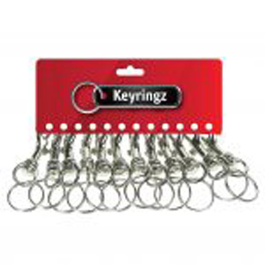 387 Silver Hipster Key Rings