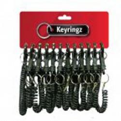 388 Black spiral key rings