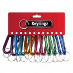 459 V Clip Key Rings Coloured