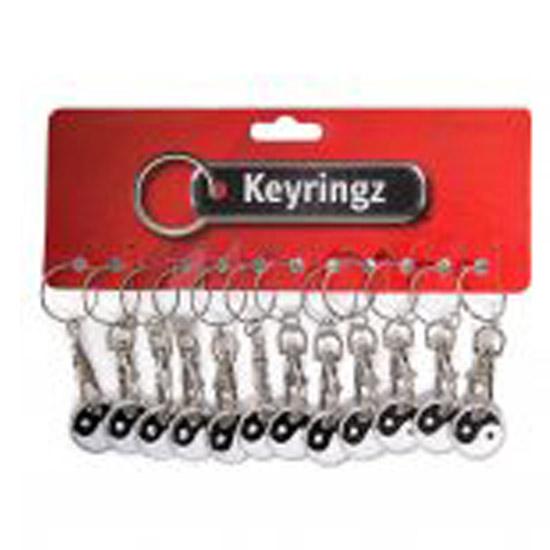 617 Trolley Coin Key Rings Yang and Yang
