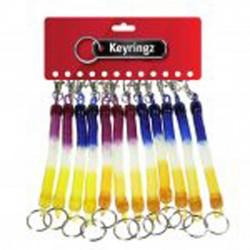 165 Rainbow spiral key rings