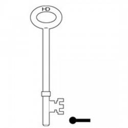 L296 FB2 Fire Brigade key blank