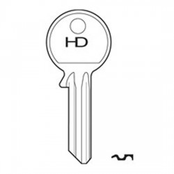 H008 WEB1 Webster key blank