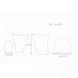 Stiletto Heel Blocks 50 2488 Leather Covered