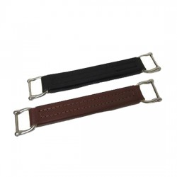 "Flat Leather Case Handle 6 1/2"""