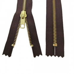 Zips Metal Brown Brass