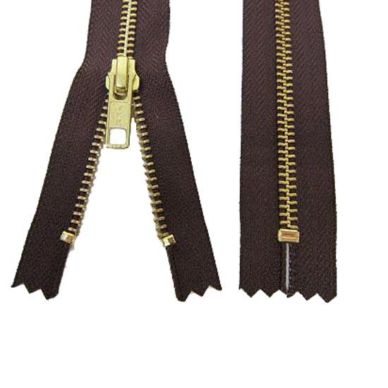 Zips Metal Brown Brass