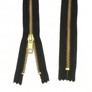 Zips Metal Black Brass