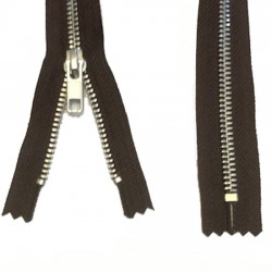 Zips Metal Brown Silver