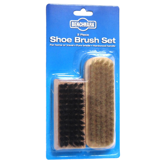 Benchmark Twin Pack Shoe Brushes
