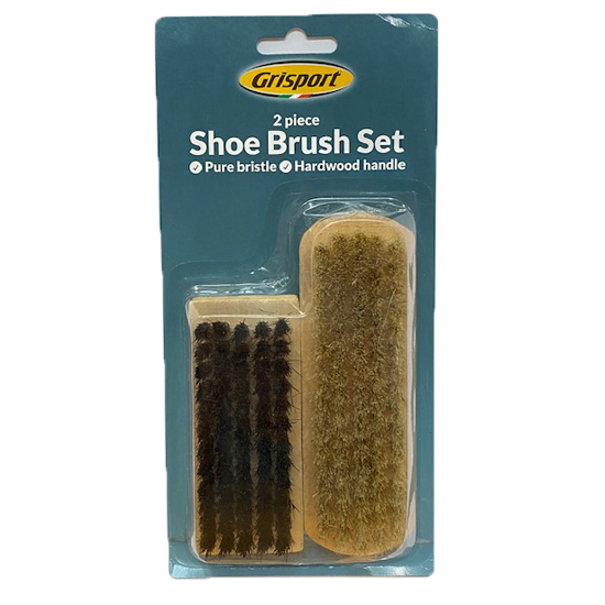 Grisport Twin Pack Shoe Brushes