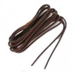 Leather Laces Non Waxed Black
