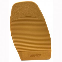 PVC Fine Flex Stick On Soles Gents Natural