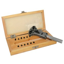 Watch case opener in wooden box